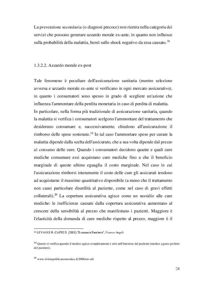 Estratto dalla tesi: Assicurazioni sanitarie e sanità integrativa. Scenario attuale e prospettive di sviluppo.