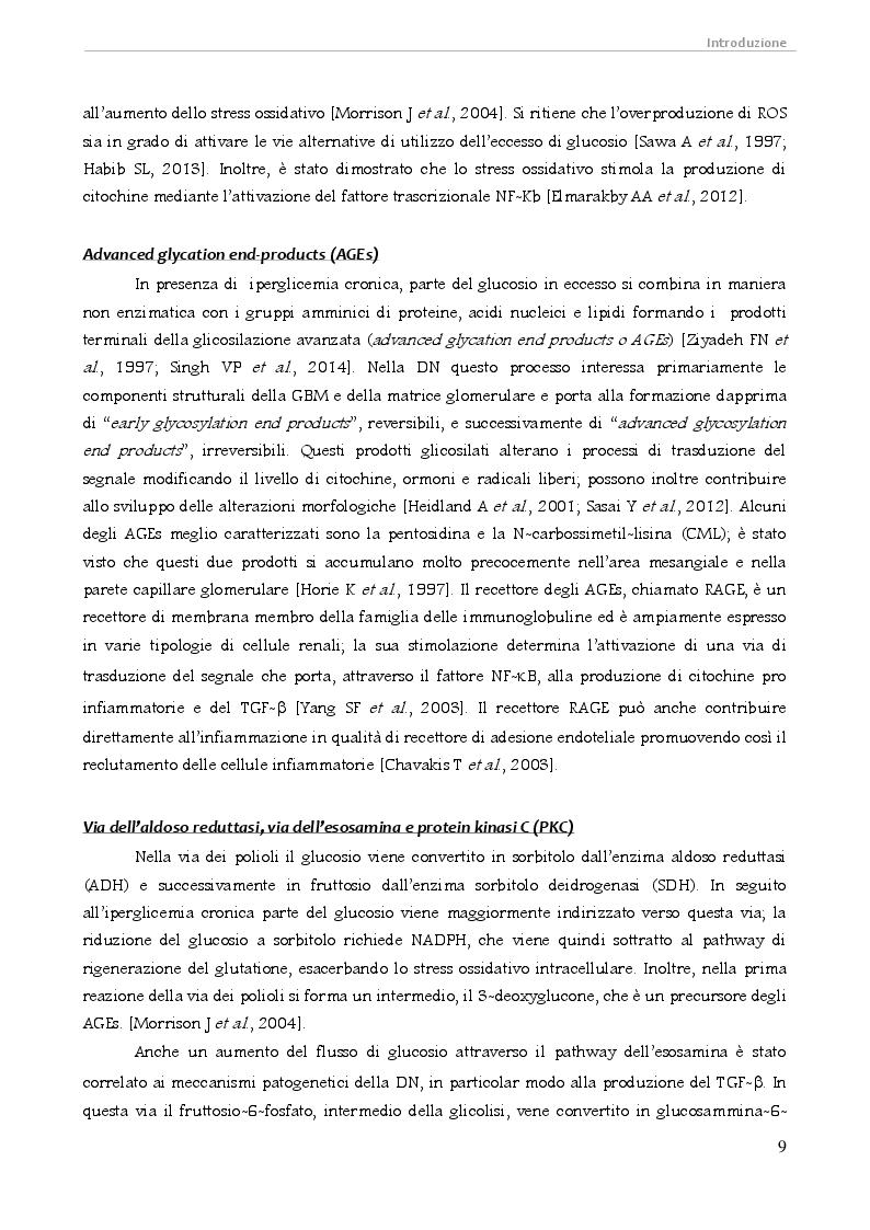 Estratto dalla tesi: Proteomica degli exosomi urinari per la ricerca di biomarcatori nella nefropatia diabetica e nelle tubulopatie ereditarie