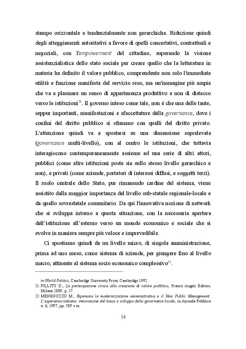 Estratto dalla tesi: La Pubblica Amministrazione al servizio del cittadino: oltre la retorica
