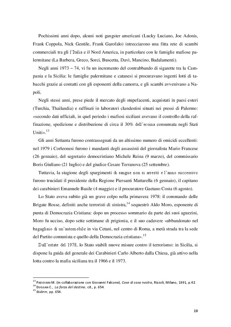 Estratto dalla tesi: Le donne nella rete di ''Cosa Nostra''.
