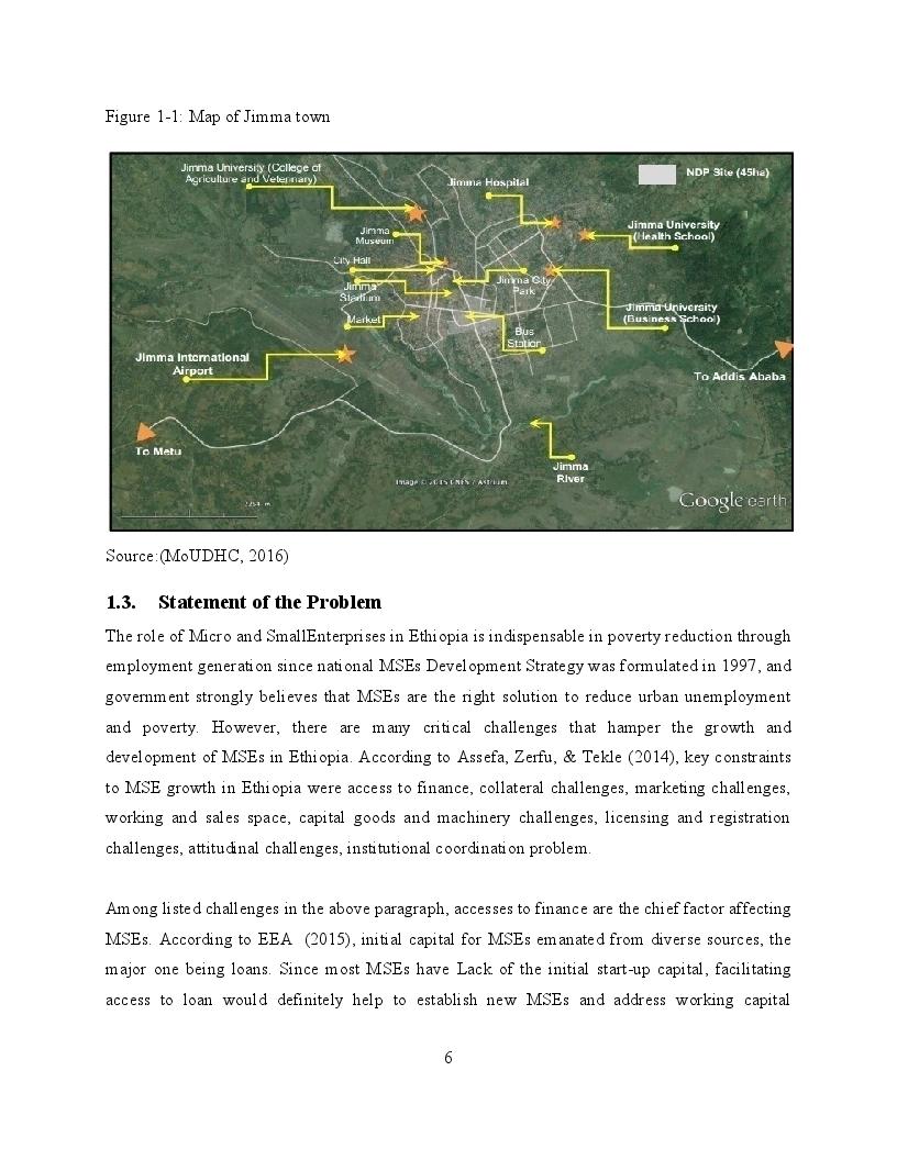 Anteprima della tesi: Determinants of Loan Repayment of Micro and Small Enterprises in Jimma Town, Ethiopia, Pagina 5