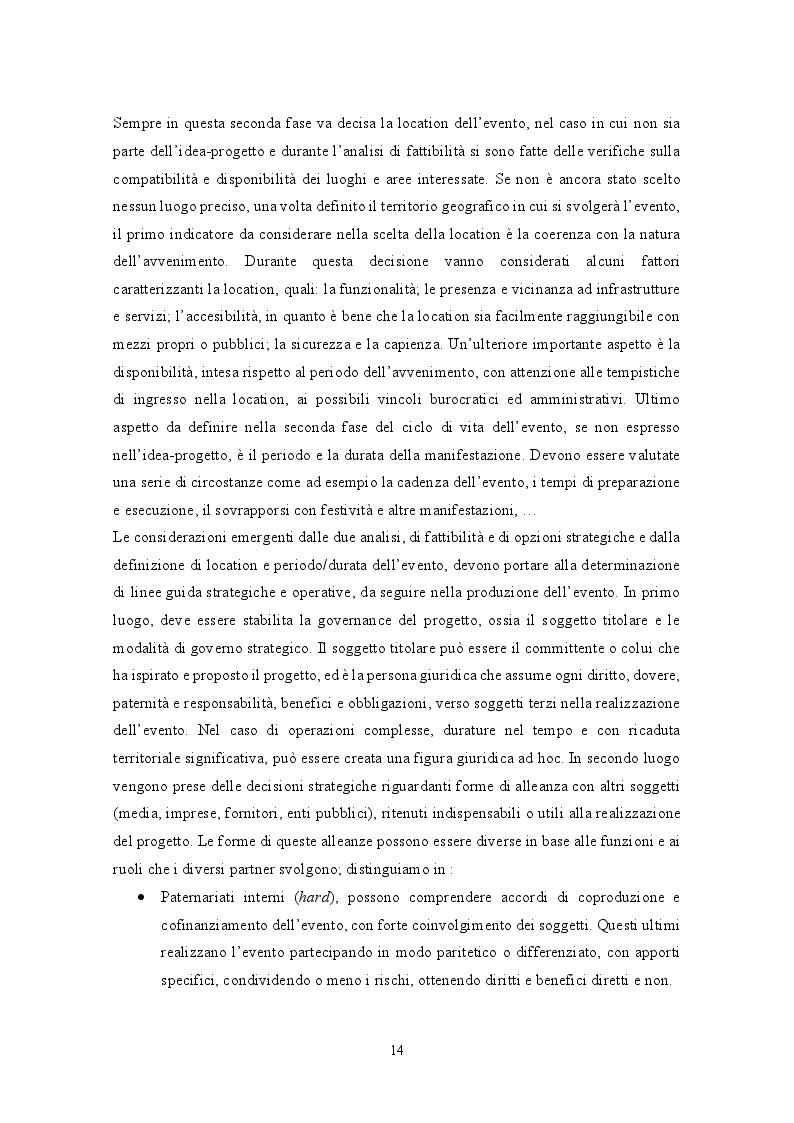 Estratto dalla tesi: Il ruolo degli eventi nella valorizzazione del territorio: il caso Exploring Bandiere Arancioni