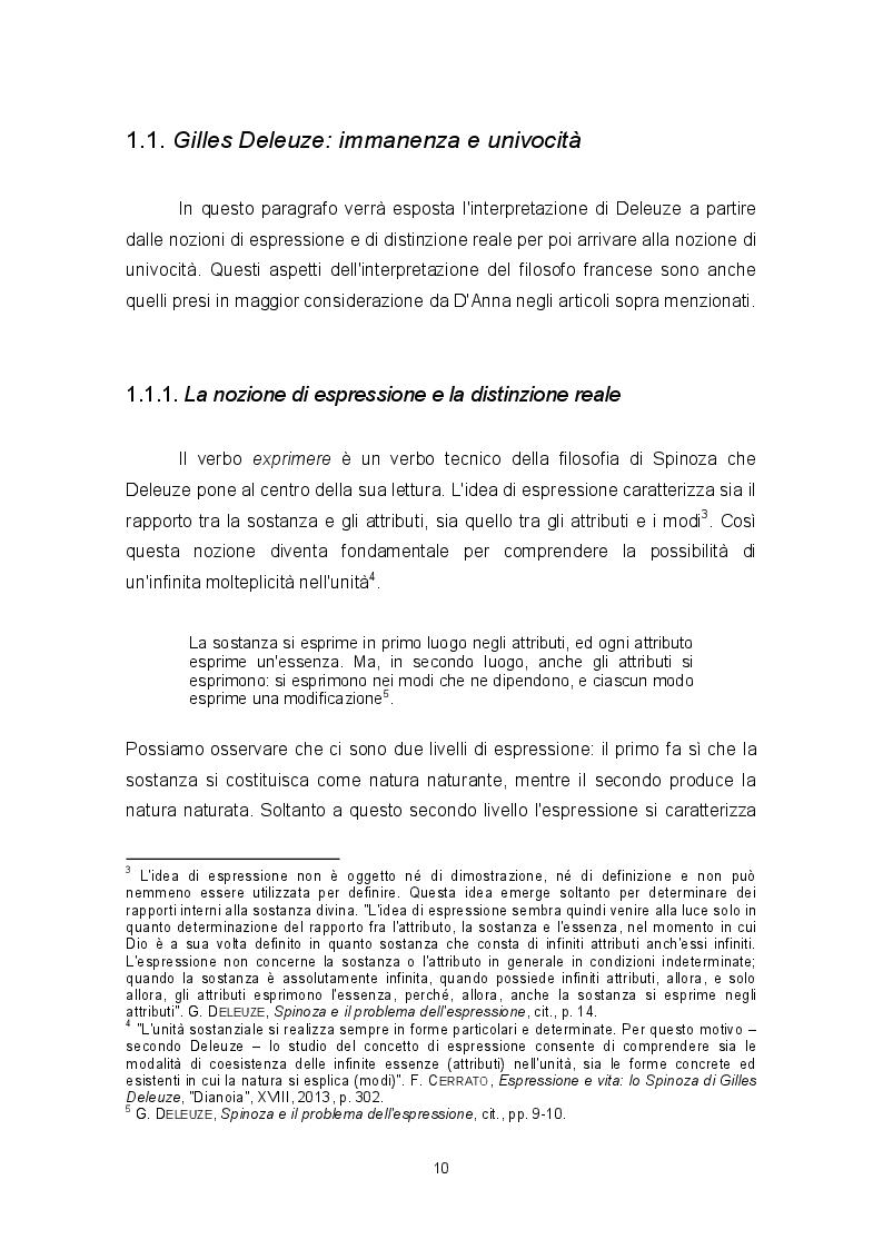 Estratto dalla tesi: Sostanza e modi in Spinoza: alcune interpretazioni recenti