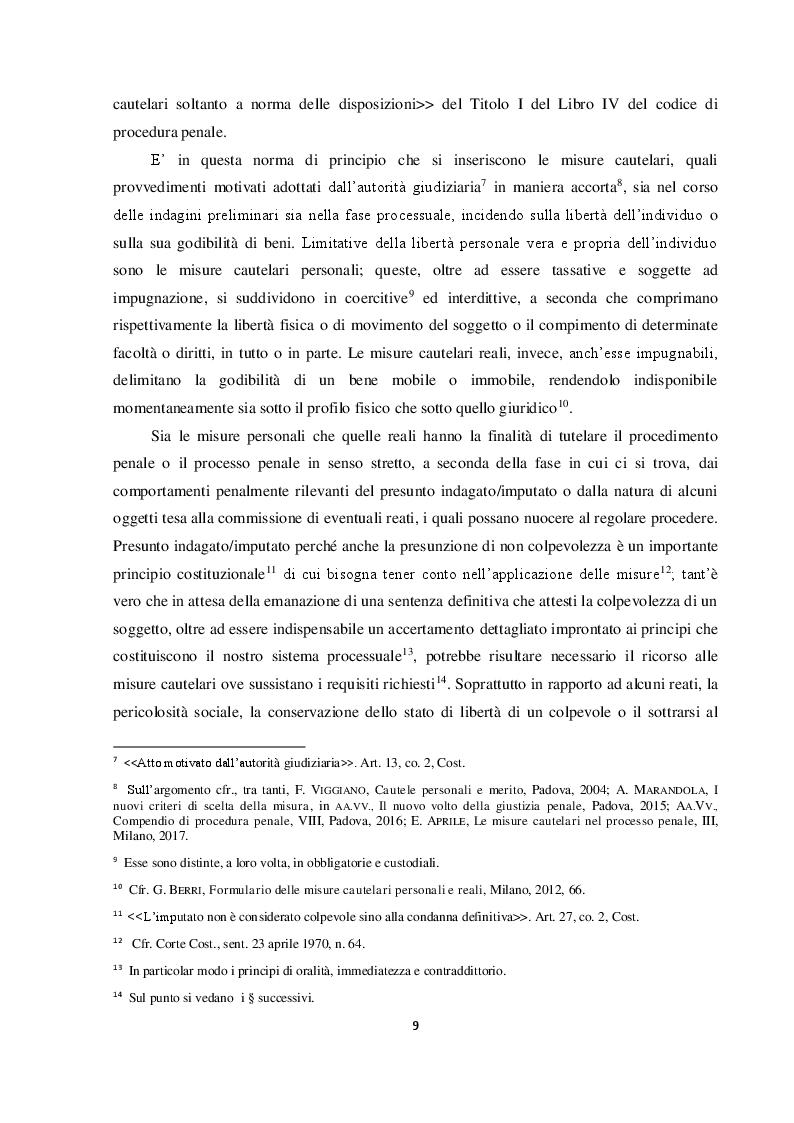 Anteprima della tesi: Il requisito dell'attualità nelle nuove misure cautelari: l'importanza della legge 16 aprile 2015 n. 47, Pagina 4