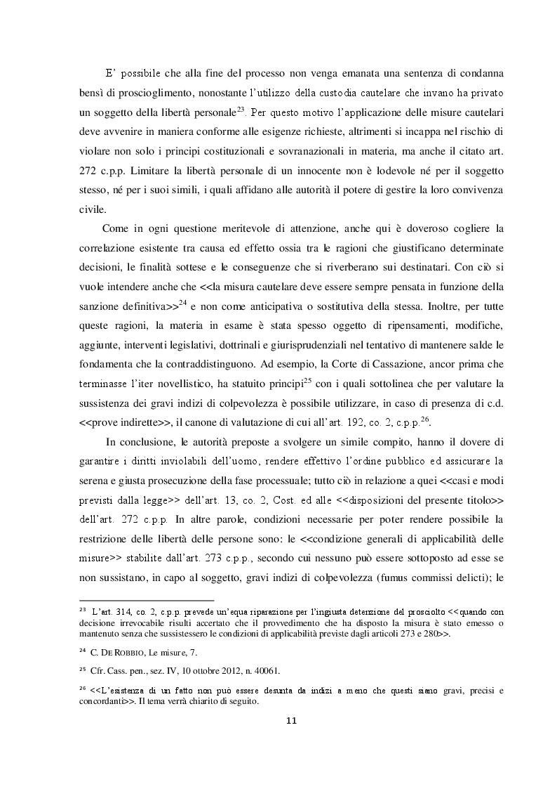 Anteprima della tesi: Il requisito dell'attualità nelle nuove misure cautelari: l'importanza della legge 16 aprile 2015 n. 47, Pagina 6