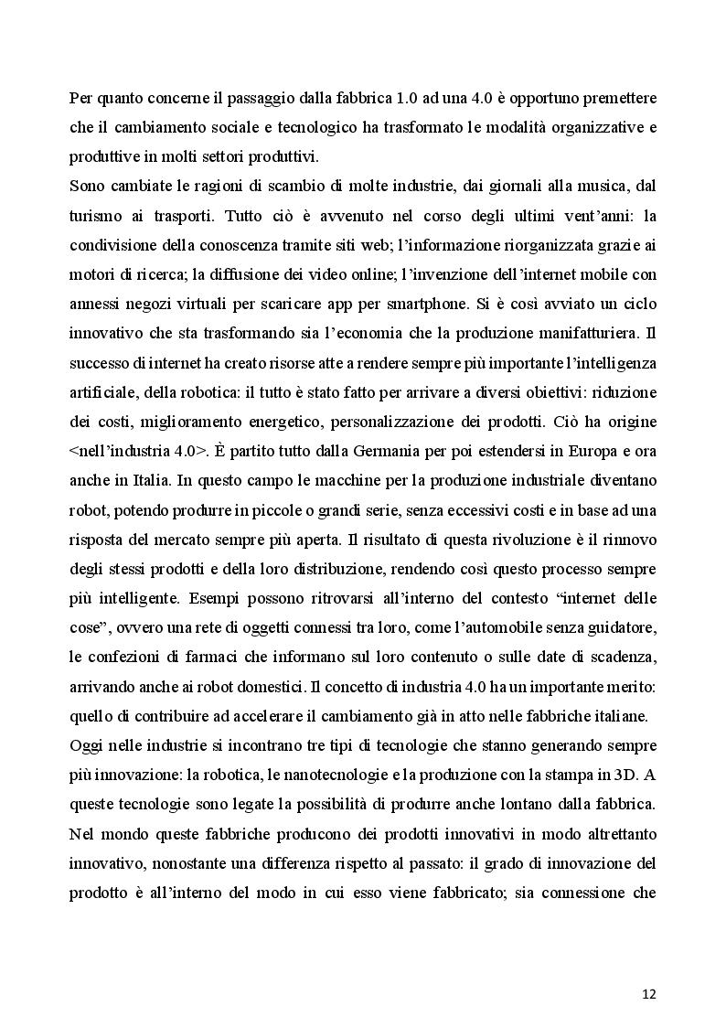 Estratto dalla tesi: L'internazionalizzazione delle imprese italiane: tre casi di studio nel settore alimentare