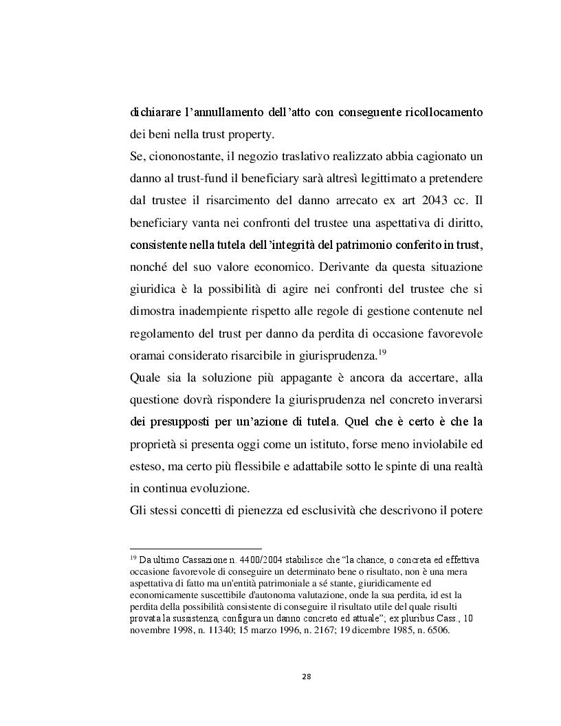 Estratto dalla tesi: Trust interno e meritevolezza degli interessi regolati