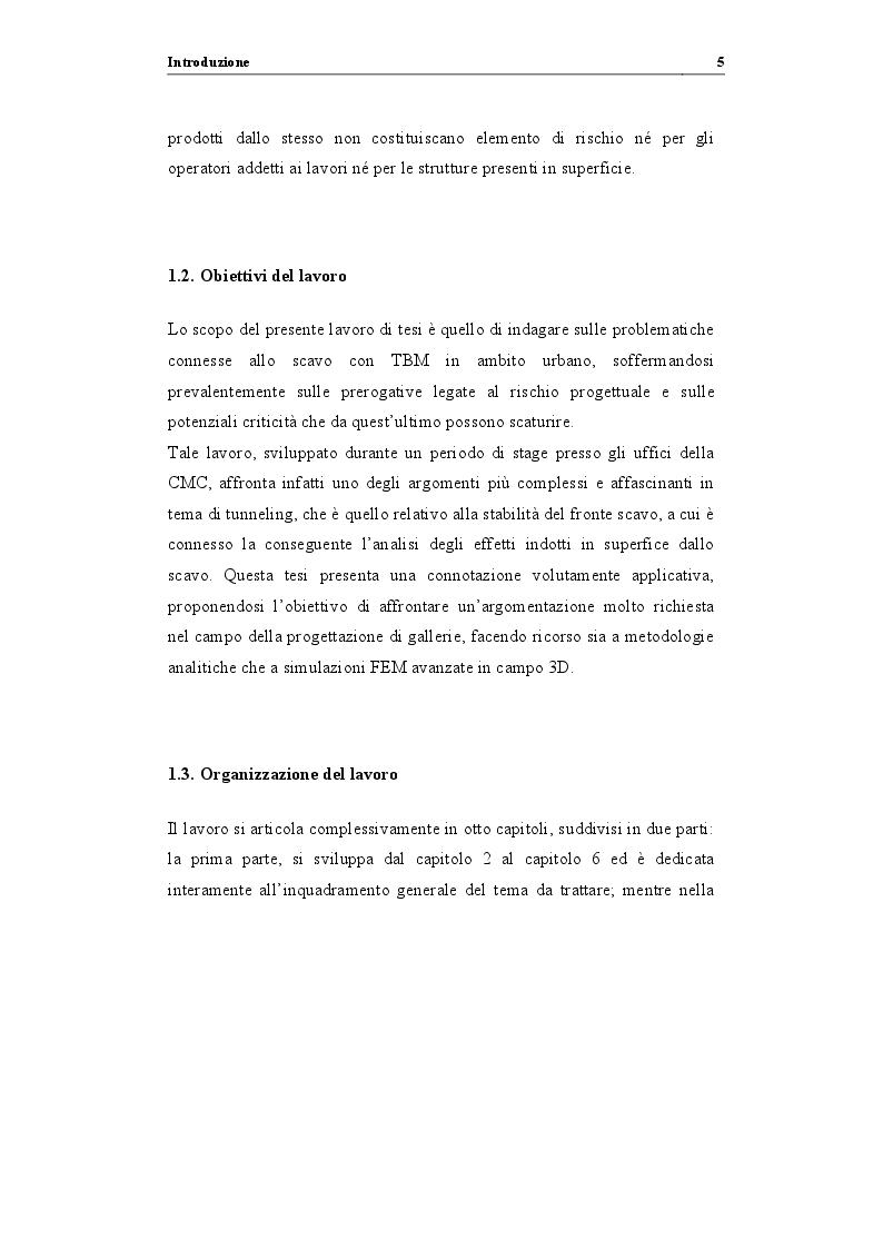 """Anteprima della tesi: Analisi di stabilità di gallerie scavate mediante TBM EPB: """"il caso della nuova linea metropolitana di Catania"""", Pagina 6"""