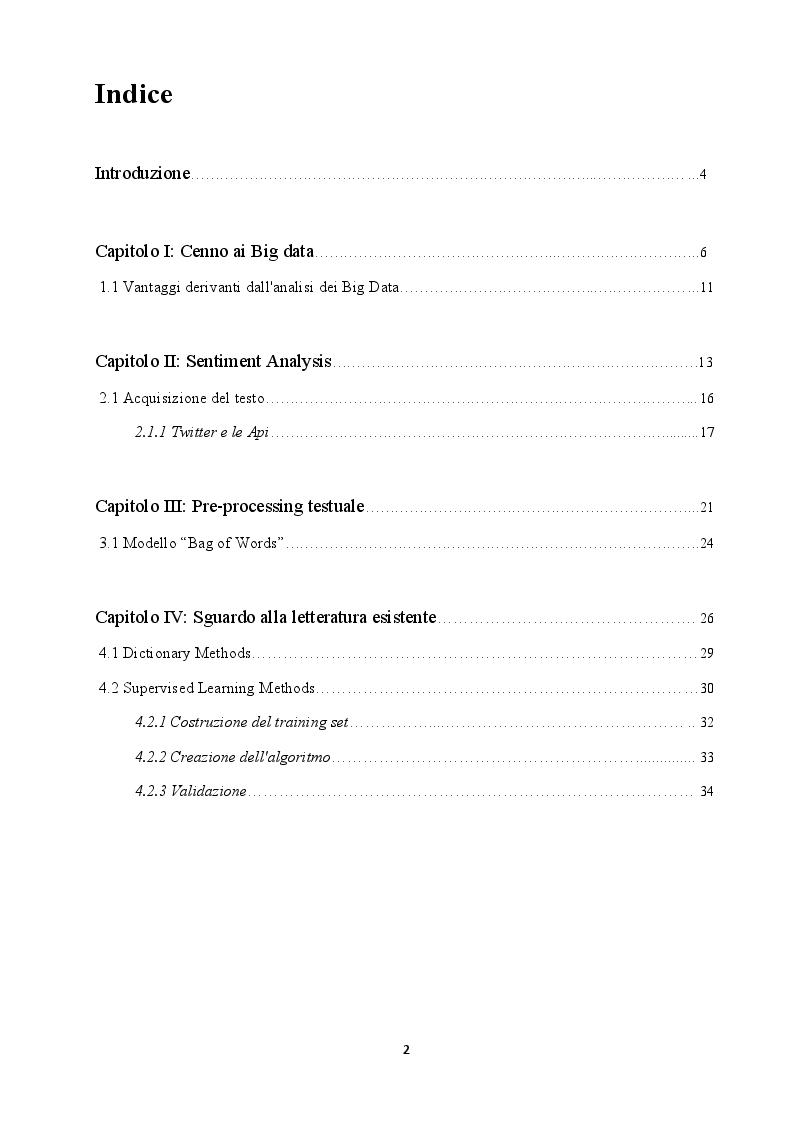 Indice della tesi: Sentiment Analysis e applicazione in R: ''The Brexit Mood'', Pagina 1