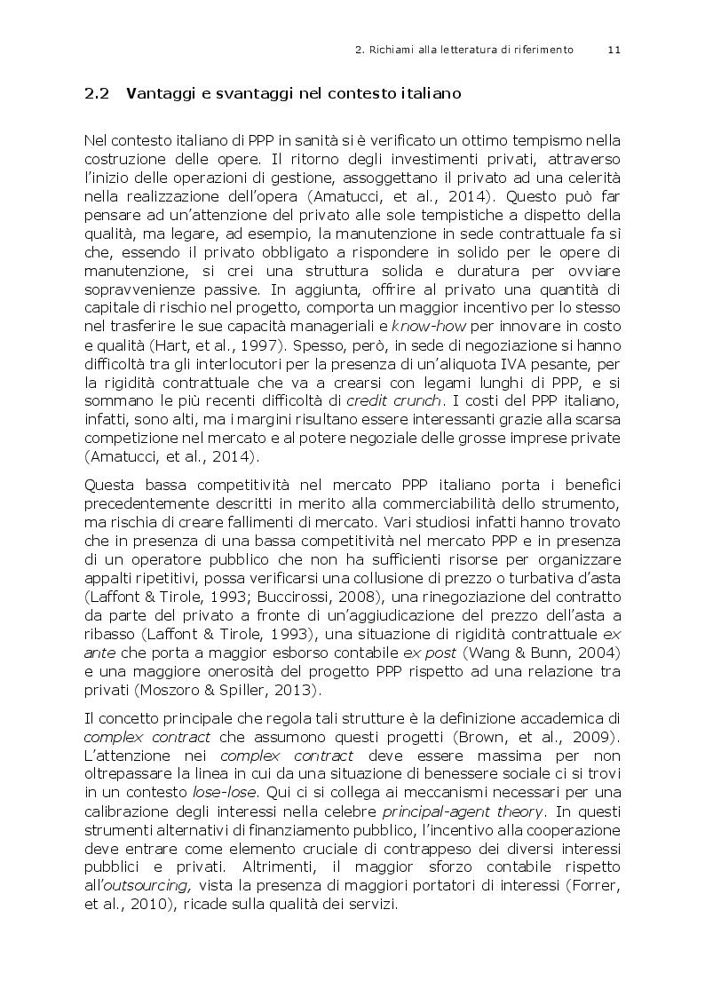 Estratto dalla tesi: L'efficienza dei partenariati pubblico-privati nell'offerta ospedaliera italiana: un'analisi quantitativa