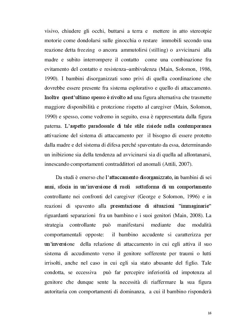 """Estratto dalla tesi: Il ruolo delle funzioni genitoriali nei casi di """"trauma complesso"""""""
