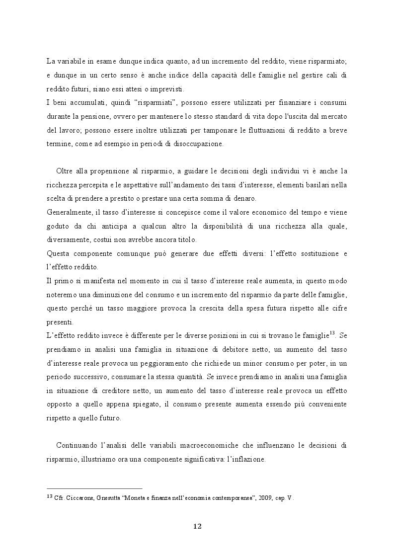 Estratto dalla tesi: Il crollo del risparmio delle famiglie italiane: analisi di cause ed effetti di un pericoloso trend
