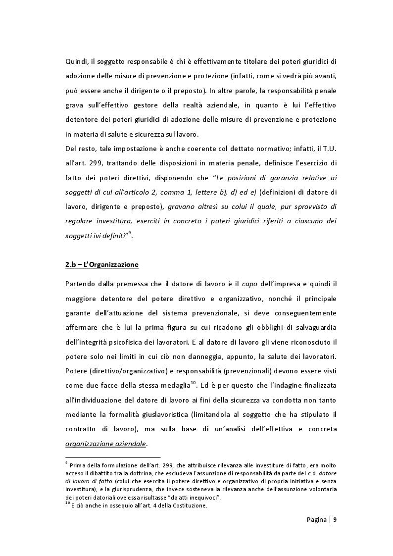 Estratto dalla tesi: Prerogative e attribuzioni  del datore di lavoro  in materia di sicurezza