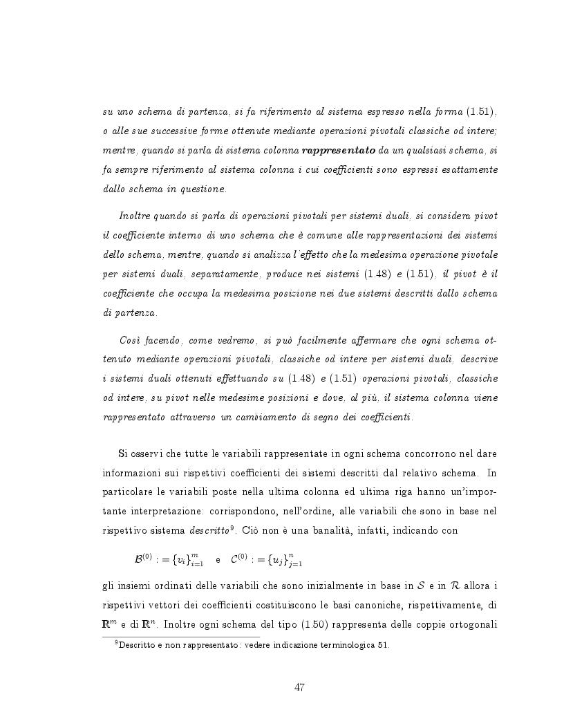 Estratto dalla tesi: Tableaux duali a coefficienti interi per problemi di programmazione lineare