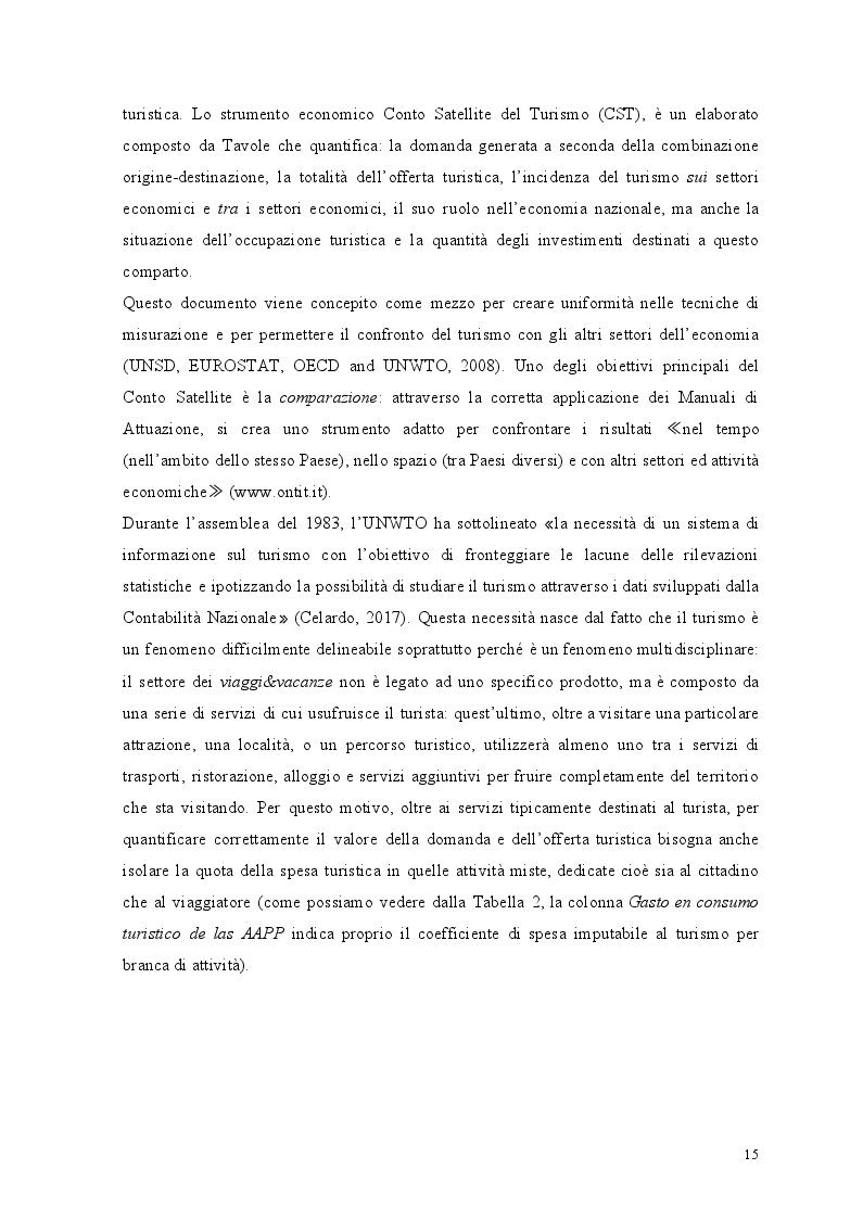 Estratto dalla tesi: Il conto satellite del turismo italiano: analisi delle criticità del sistema statistico nazionale e proposte migliorative