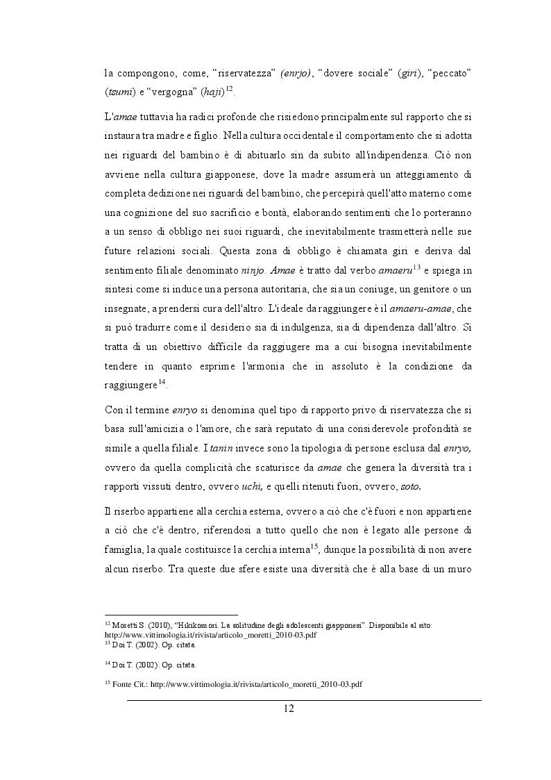 Estratto dalla tesi: Hikikomori: la silenziosa adolescenza