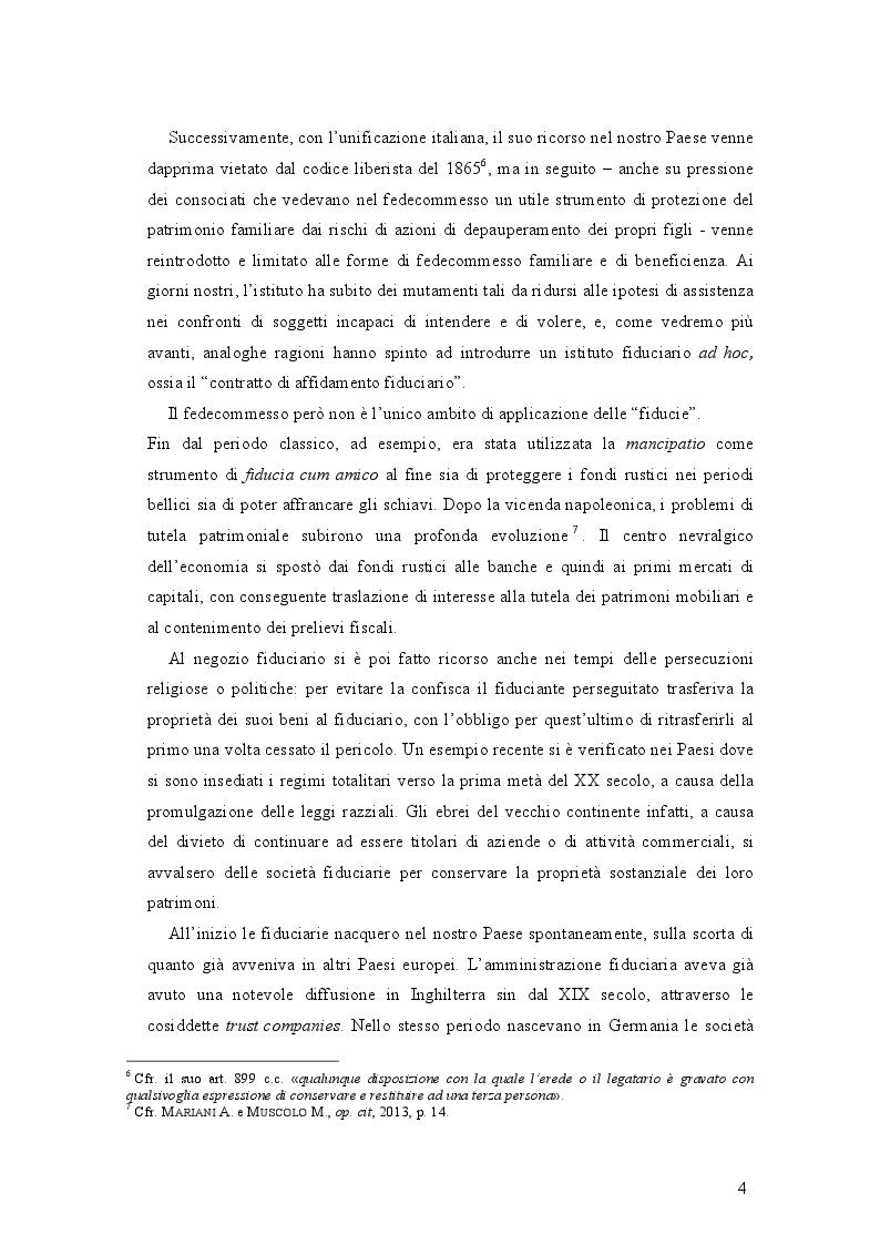 Estratto dalla tesi: Le società fiduciarie e il controllo pubblico. La vigilanza di Banca d'Italia.