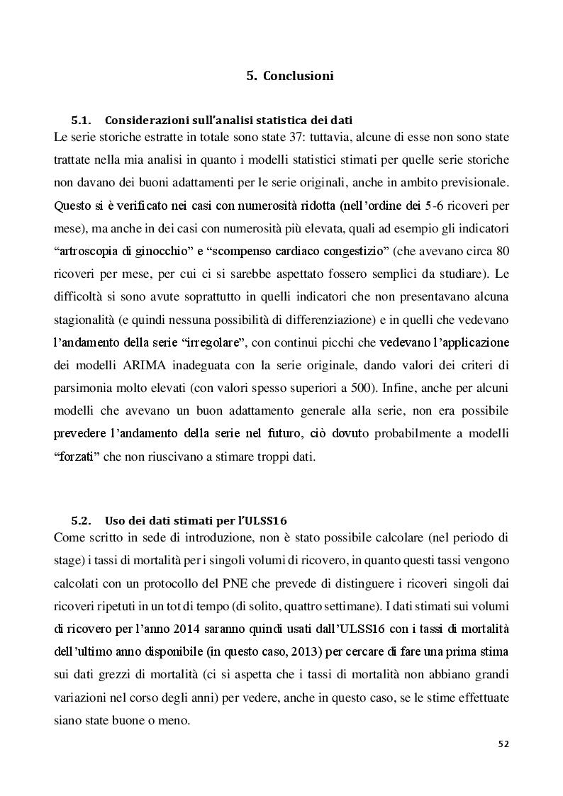 Estratto dalla tesi: Il Programma Nazionale Esiti: comprensione e analisi di alcuni indicatori