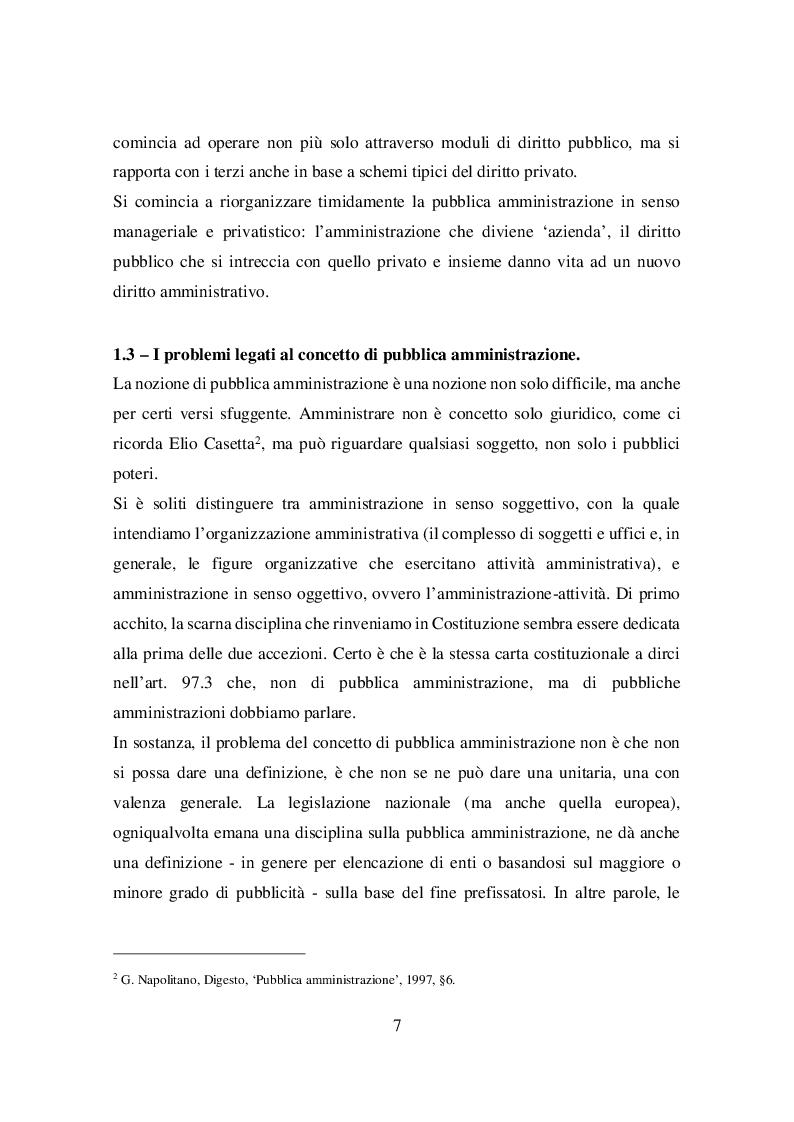 Anteprima della tesi: Il principio di buon andamento ex articolo 97 della Costituzione: dal giuridicamente irrilevante all'amministrazione di risultato, Pagina 8