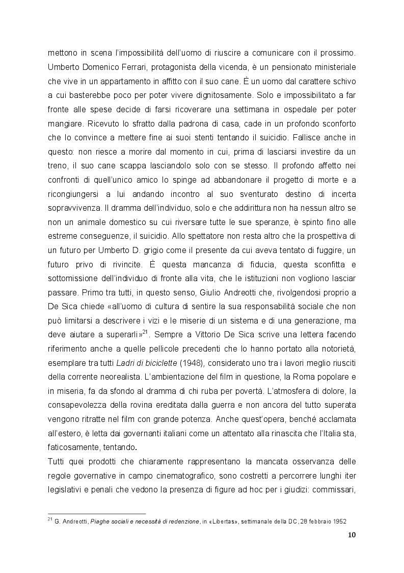 Estratto dalla tesi: L'Italia che taglia: analisi degli studi sulla censura cinematografica italiana negli anni Cinquanta