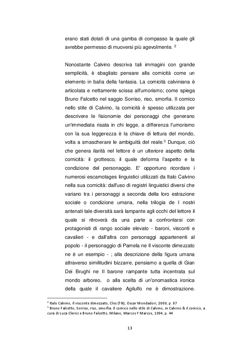 Estratto dalla tesi: Italo Calvino lettore dell'Ariosto