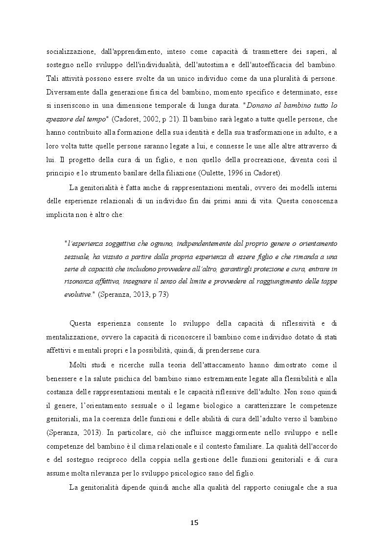 Estratto dalla tesi: Omogenitorialità: un contributo di ricerca