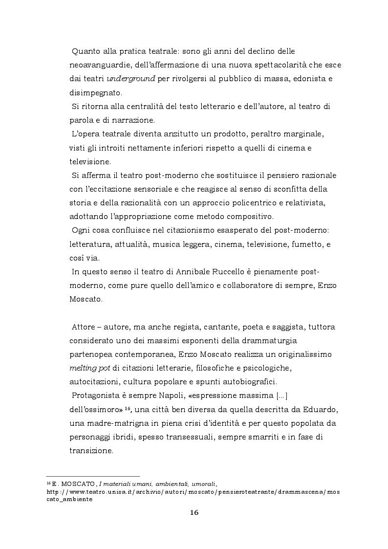 Estratto dalla tesi: Ferdinando di Annibale Ruccello nella messa in scena di Isa Danieli, 2006
