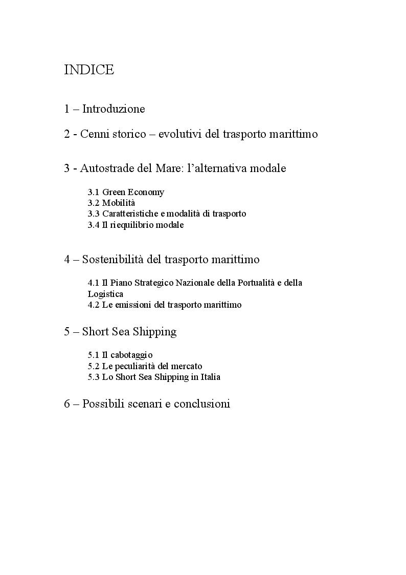 Indice della tesi: La Navigazione Costiera in Campania, Pagina 1