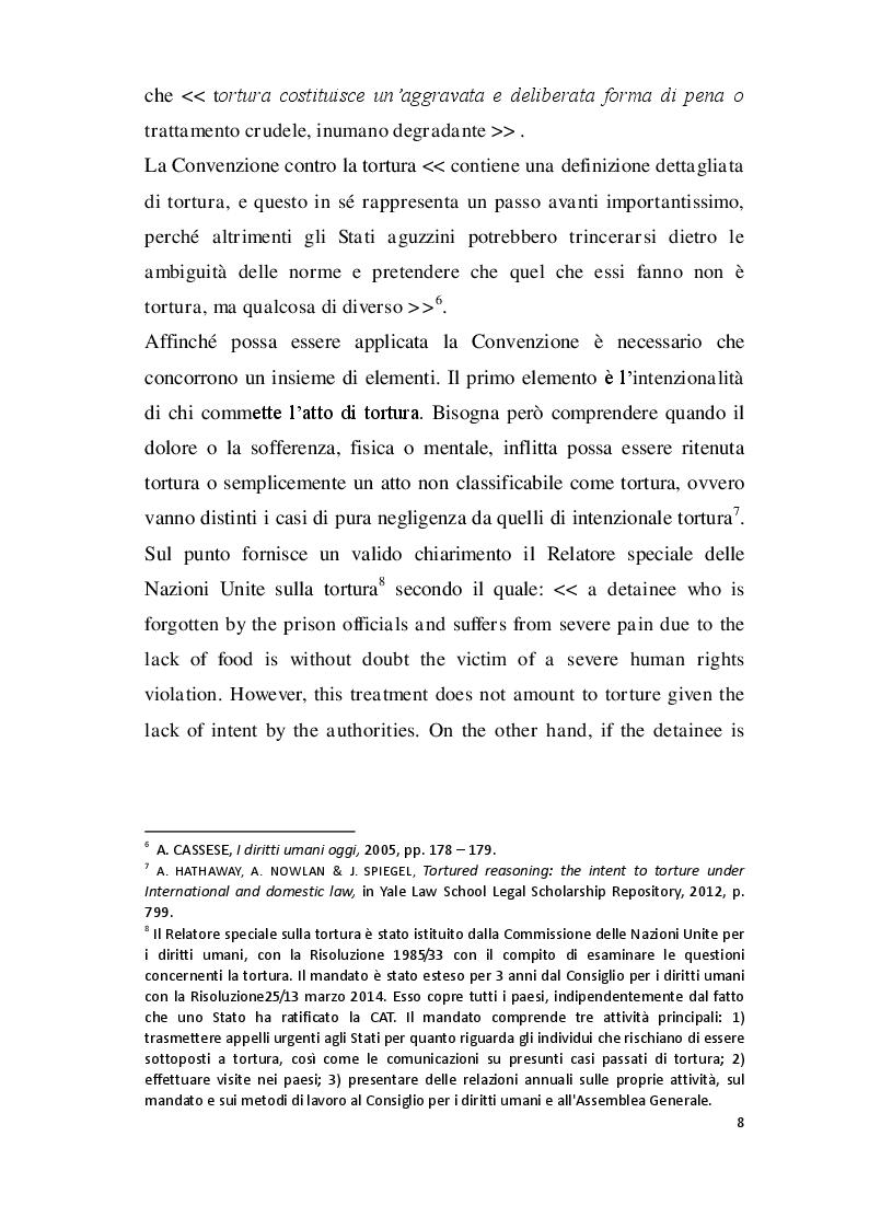Estratto dalla tesi: La protezione internazionale delle donne dagli atti di tortura