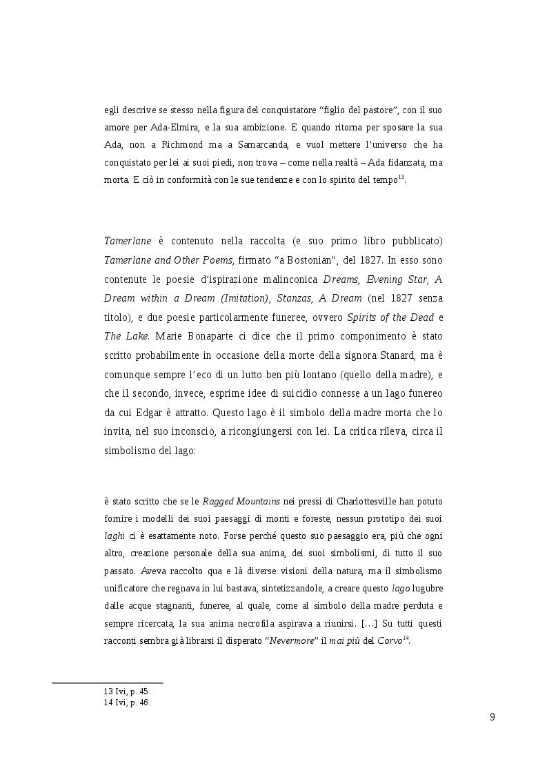 Estratto dalla tesi: Poe e gli scrittori italiani