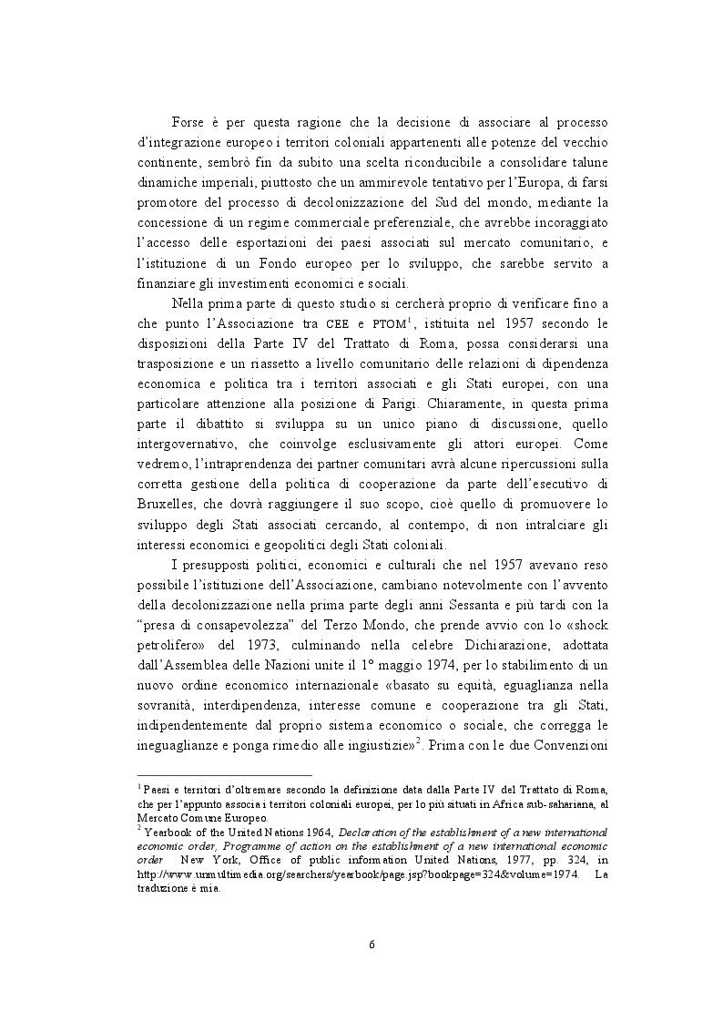 Anteprima della tesi: La politica di cooperazione comunitaria negli Stati ACP: particolarità e limiti di un modello associativo., Pagina 3