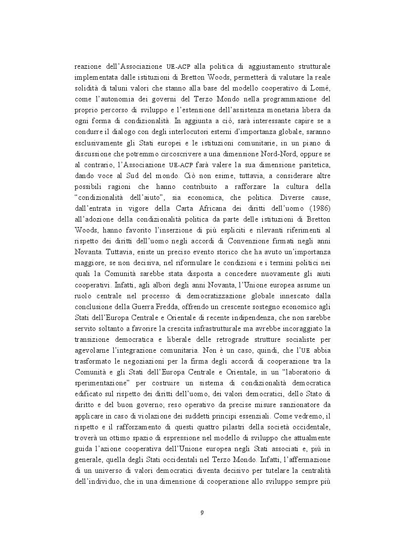 Anteprima della tesi: La politica di cooperazione comunitaria negli Stati ACP: particolarità e limiti di un modello associativo., Pagina 6