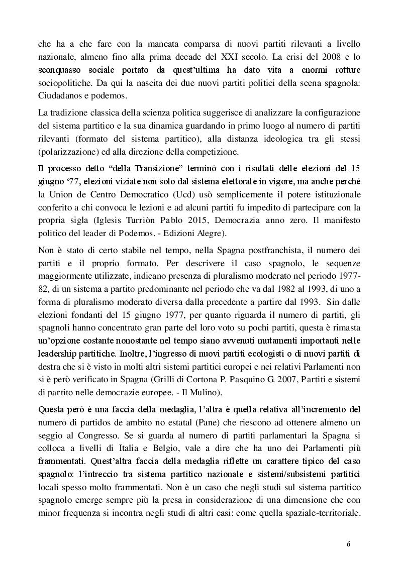 Estratto dalla tesi: L'evoluzione del sistema partitico e politico spagnolo dal 1978 al 2015