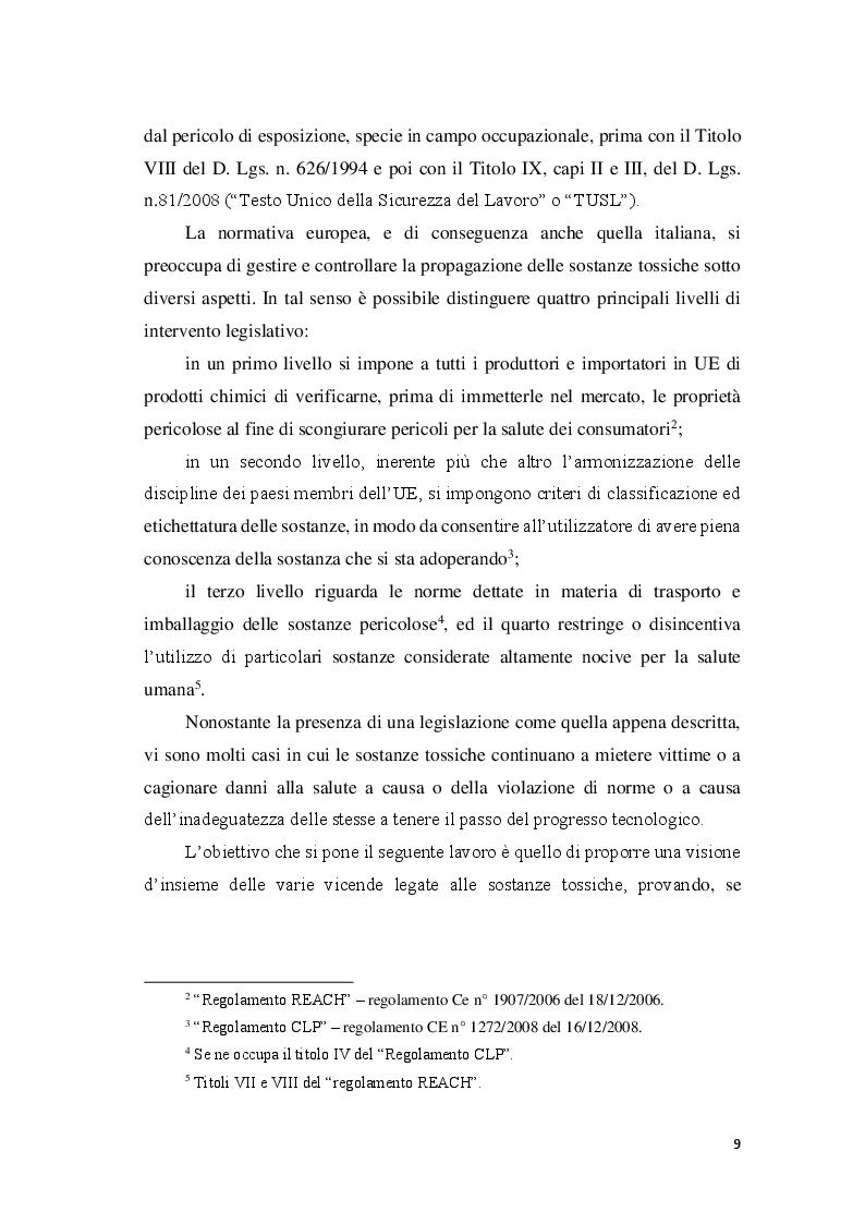 Anteprima della tesi: La responsabilità civile per l'esposizione alle sostanze tossiche, Pagina 4