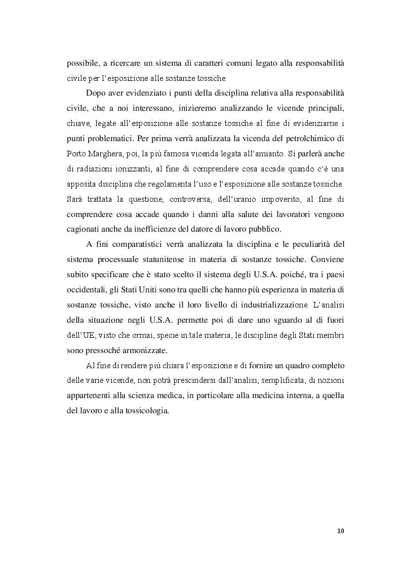 Anteprima della tesi: La responsabilità civile per l'esposizione alle sostanze tossiche, Pagina 5