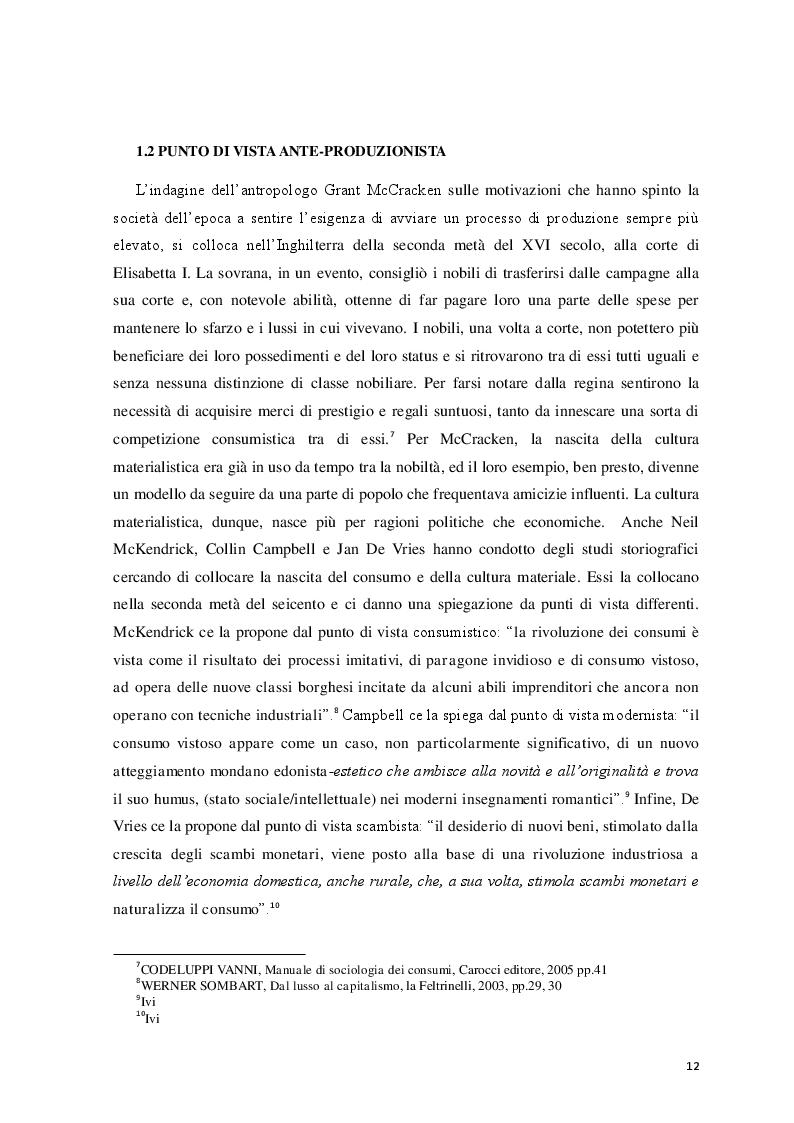 Estratto dalla tesi: Logicità, permanenza e peculiarità del consumismo: aspetti antropologici e meccanismi psicologici