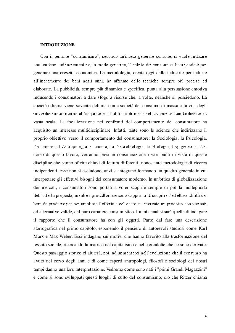 Anteprima della tesi: Logicità, permanenza e peculiarità del consumismo: aspetti antropologici e meccanismi psicologici, Pagina 2