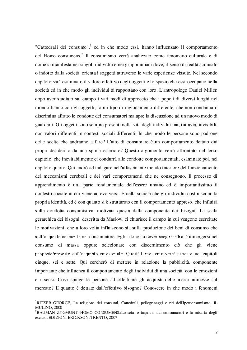 Anteprima della tesi: Logicità, permanenza e peculiarità del consumismo: aspetti antropologici e meccanismi psicologici, Pagina 3