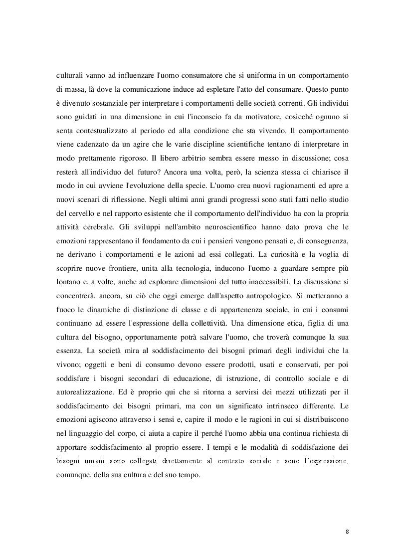 Anteprima della tesi: Logicità, permanenza e peculiarità del consumismo: aspetti antropologici e meccanismi psicologici, Pagina 4
