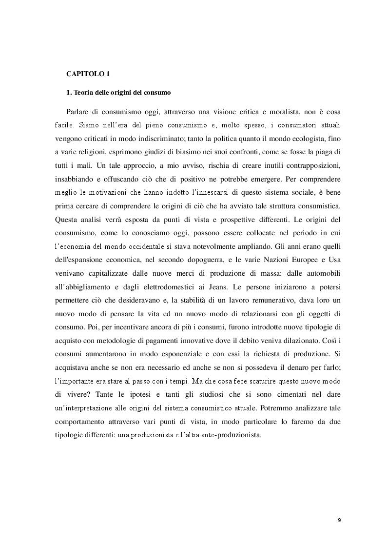 Anteprima della tesi: Logicità, permanenza e peculiarità del consumismo: aspetti antropologici e meccanismi psicologici, Pagina 5