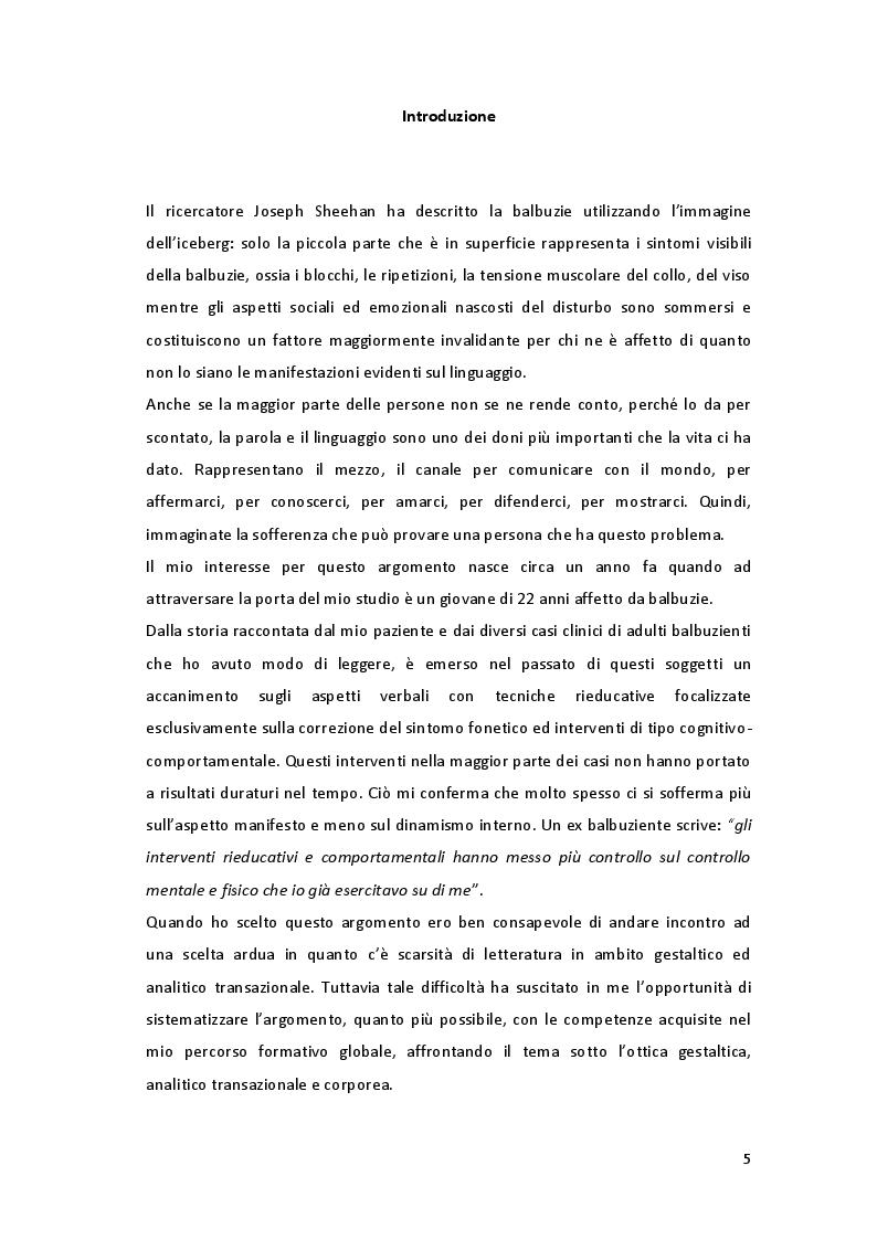 Anteprima della tesi: ''Parole in trappola'' - scacco alla balbuzie con l'approccio gestaltico ed analitico transazionale, Pagina 2