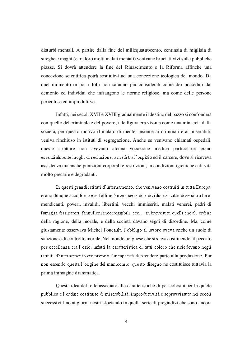 Anteprima della tesi: La riforma della sanità penitenziaria: il superamento dell'ospedale psichiatrico giudiziario e le prospettive pedagogico-educative, Pagina 5