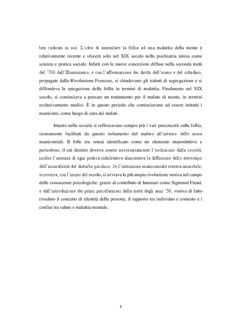 Anteprima della tesi: La riforma della sanità penitenziaria: il superamento dell'ospedale psichiatrico giudiziario e le prospettive pedagogico-educative, Pagina 6