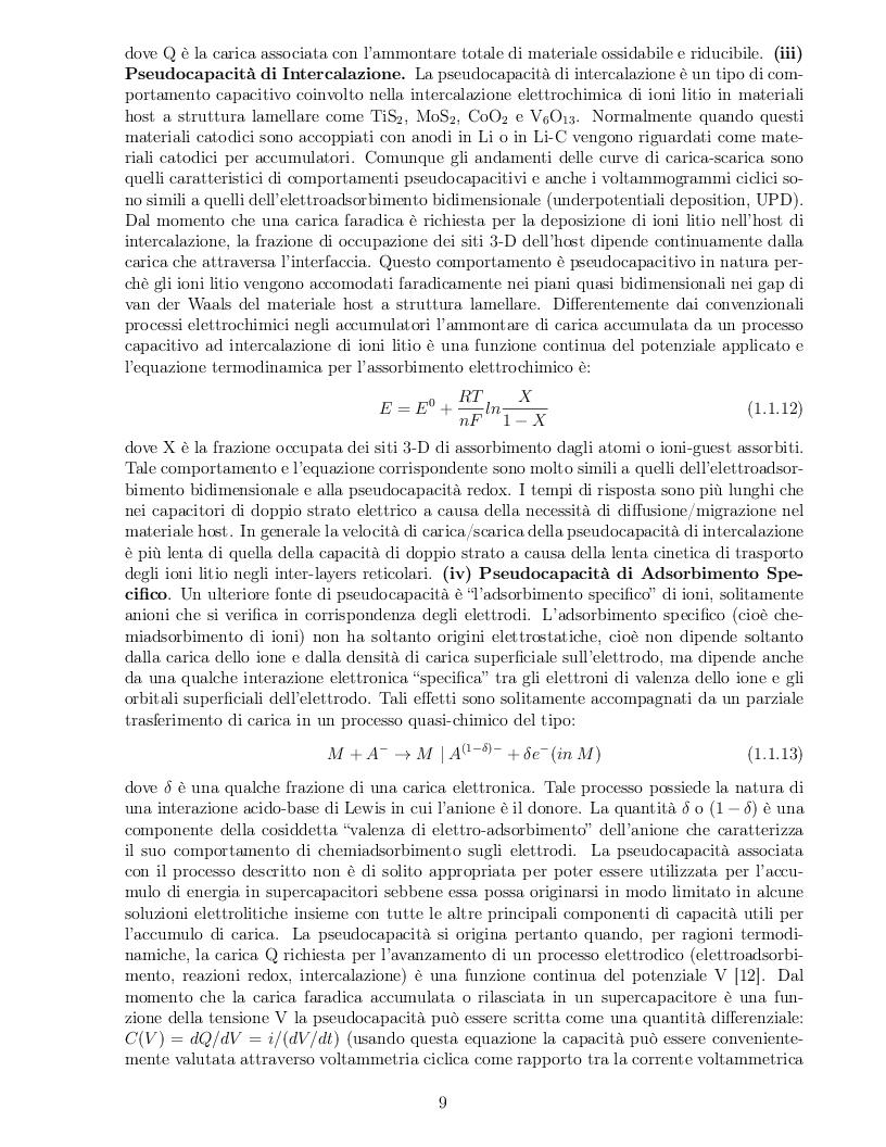 Anteprima della tesi: Impatto dei parametri strutturali e chimici sulle proprietà capacitive di nanotubi di carbonio, Pagina 6