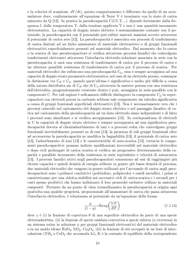 Anteprima della tesi: Impatto dei parametri strutturali e chimici sulle proprietà capacitive di nanotubi di carbonio, Pagina 7
