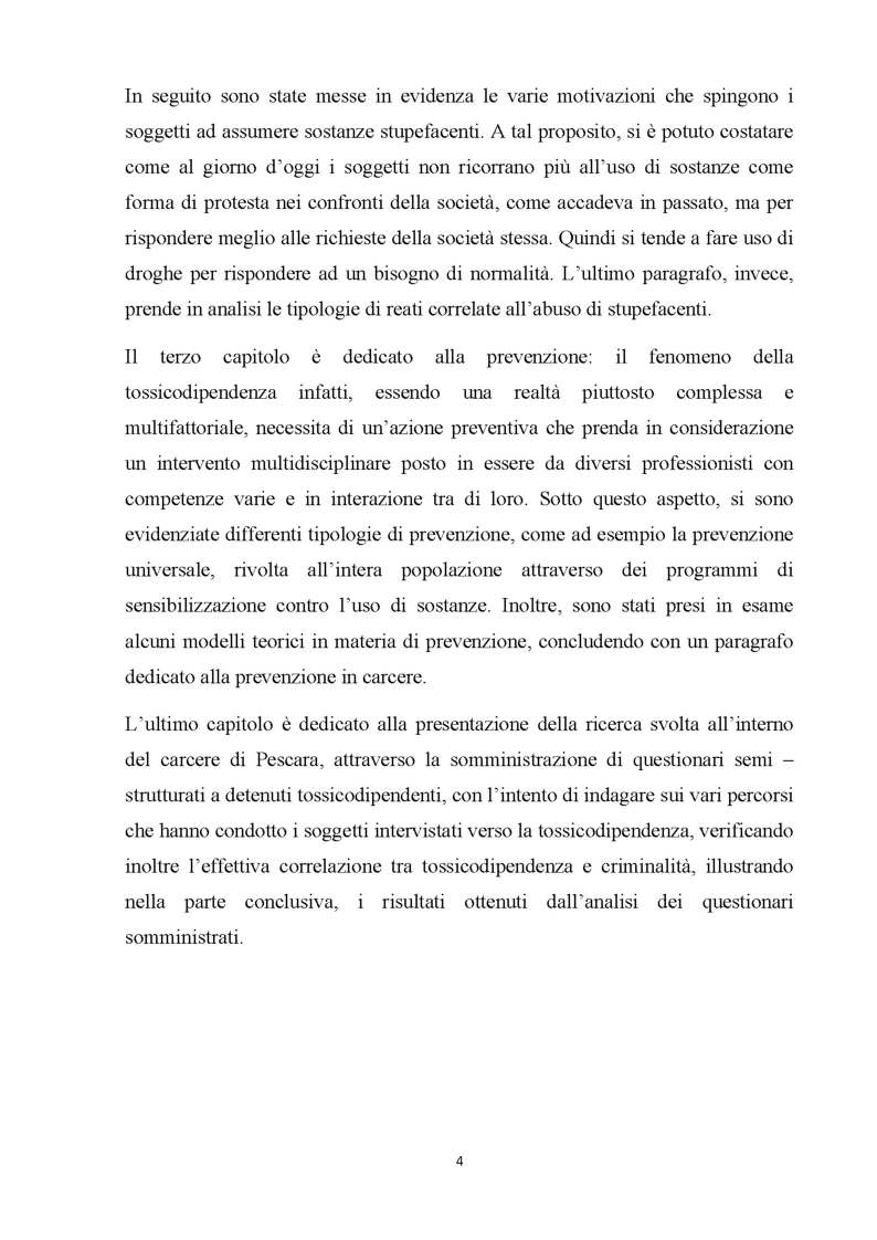 Anteprima della tesi: Percorsi verso la dipendenza da sostanze, Pagina 3