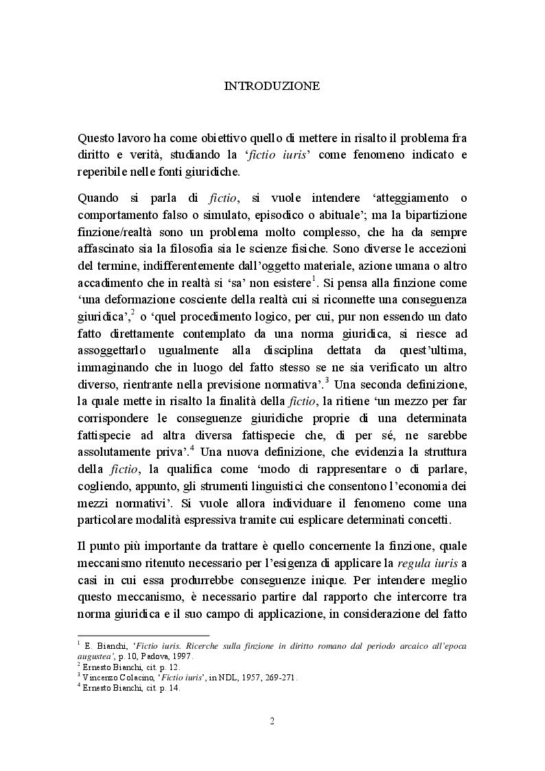 Anteprima della tesi: Fictio iuris, Pagina 2