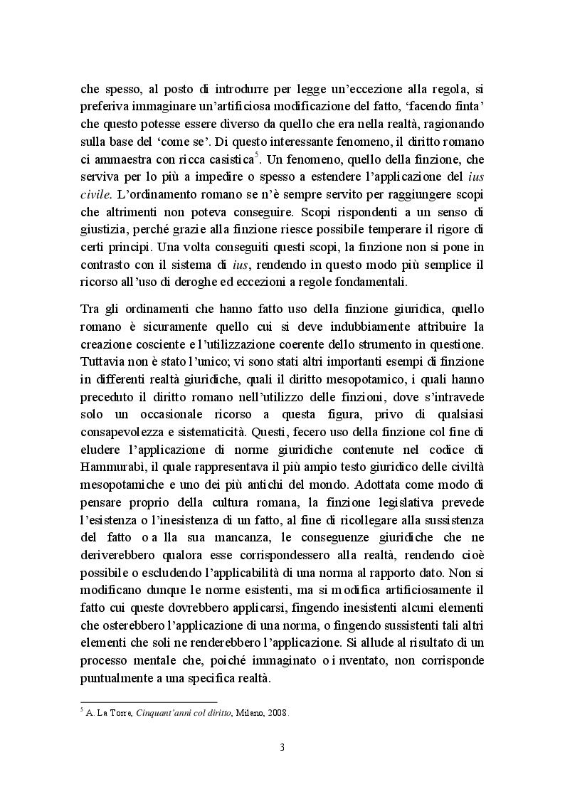 Anteprima della tesi: Fictio iuris, Pagina 3