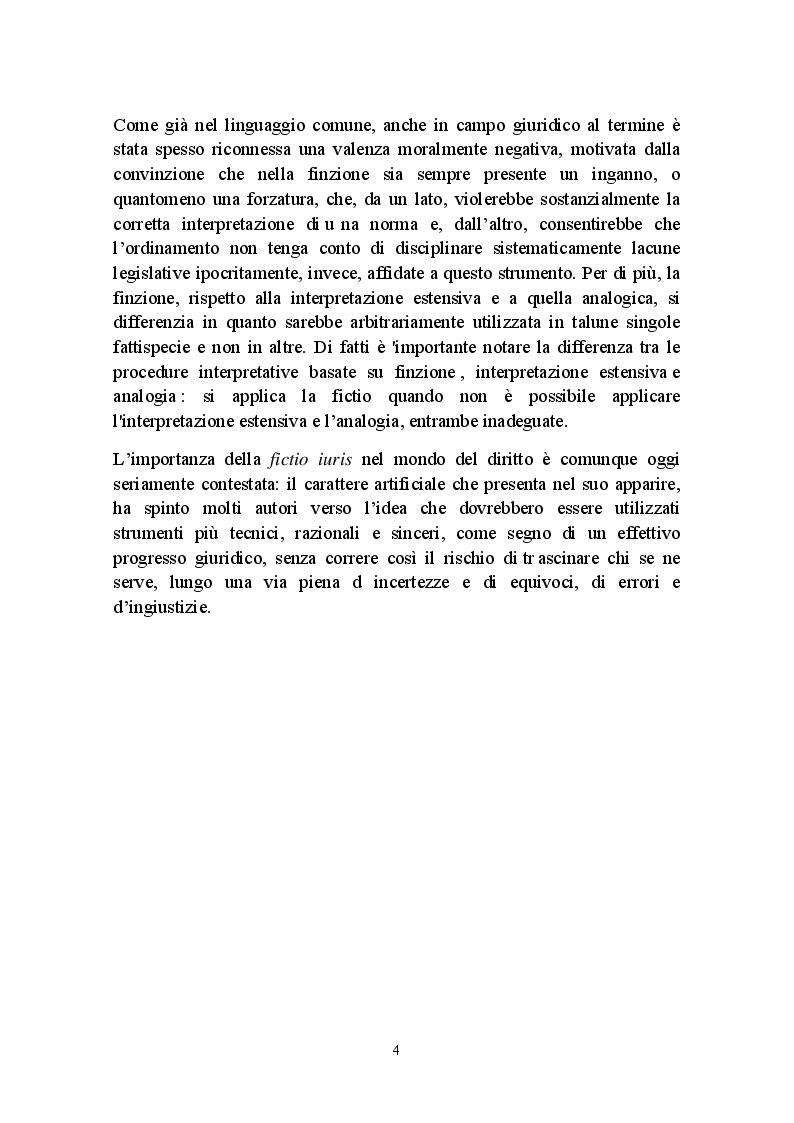 Anteprima della tesi: Fictio iuris, Pagina 4