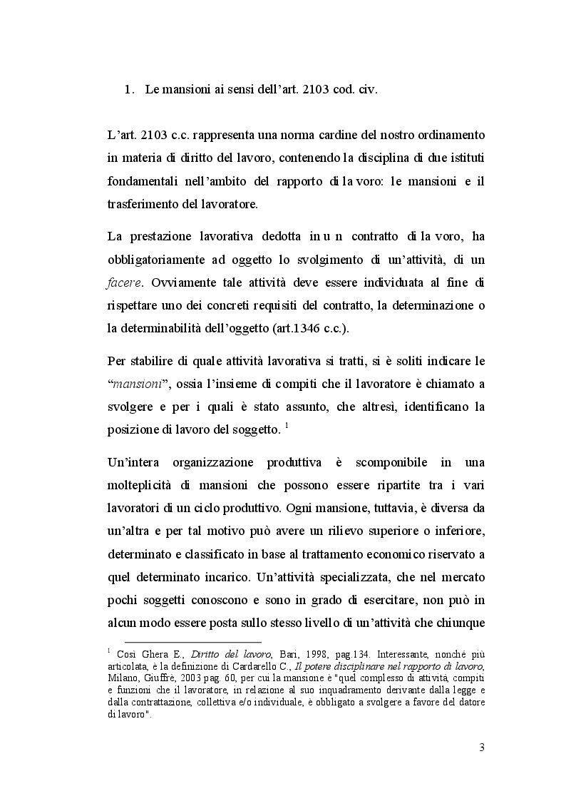 Anteprima della tesi: La dequalificazione professionale, Pagina 2